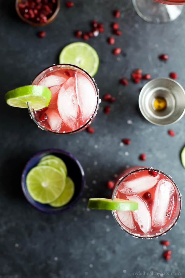 The Saddest Pomegranate Margaritas Ever Recipe — Dishmaps