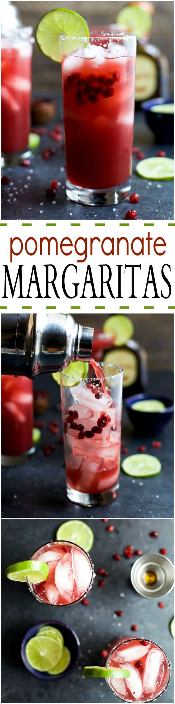 POMEGRANATE MARGARITAS an easy cocktail recipe you can rock all year round! Made with fresh ingredients. Cheers to the BEST Margarita Recipe ever!