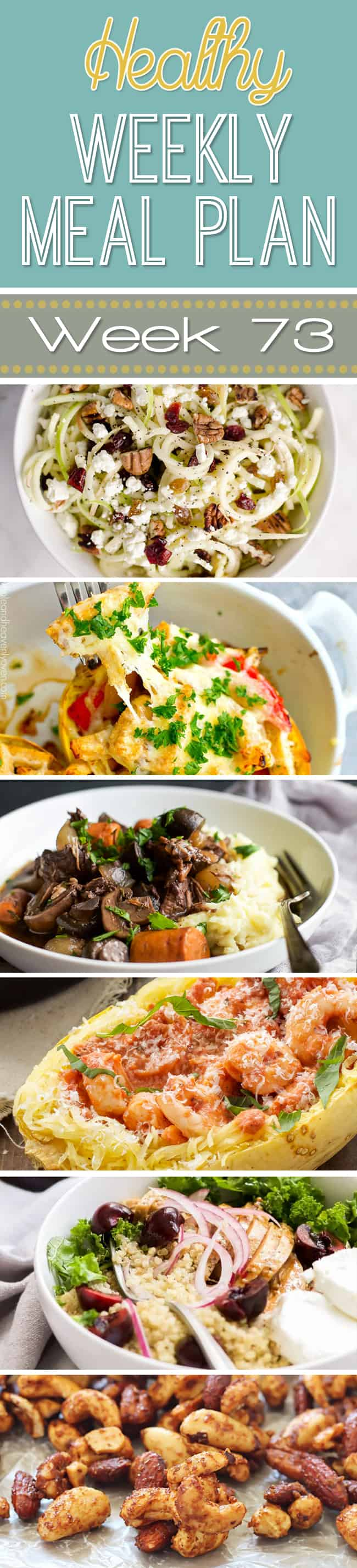 Make your life easier AND healthier! This healthy meal plan has a weeks worth of healthy recipes you can make for your family for breakfast, lunch, and dinner with a few snacks and desserts snuck in!   joyfulhealthyeats.com #family #dinnerideas #kidfriendly