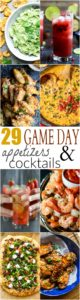 29 OF THE BEST GAME DAY APPETIZERS & COCKTAILS - from mojitos and margaritas to dips and wings! You're gonna love this Game Day Recipe Roundup! | joyfulhealthyeats.com