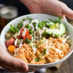 Image of a Buffalo Chicken Quinoa Bowl