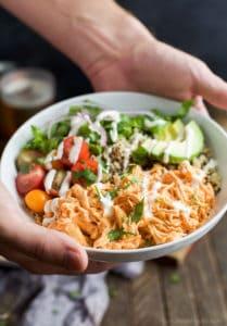 Image of a Buffalo Chicken Quinoa Bowl