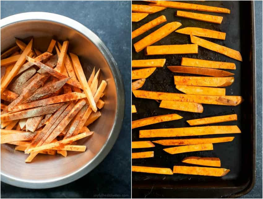 Chipotle Sweet Potato Fries with Honey Sriracha Aioli ...