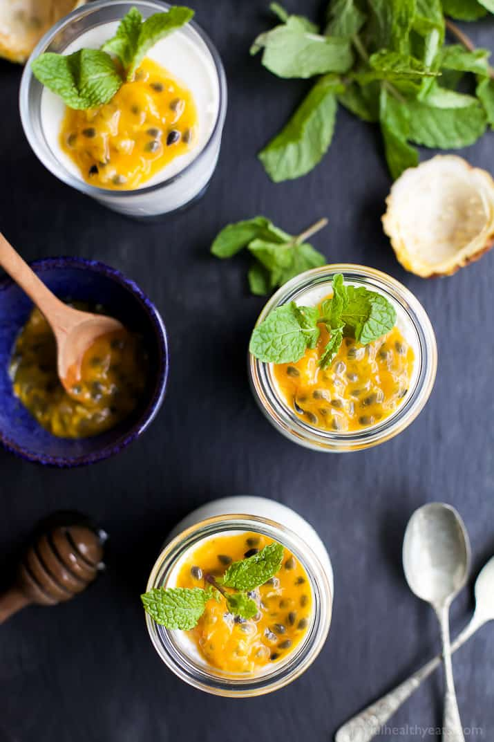 Paleo Panna Cotta With Passion Fruit