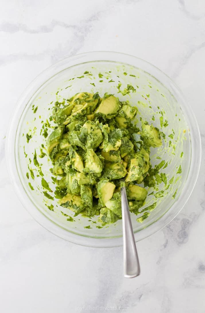 homemade avocado salsa