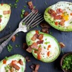 Bacon Baked Egg in Avocado