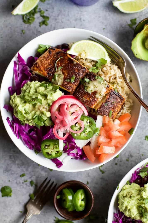 Fish taco rice bowls easy healthy recipes using real for Fish taco recipes