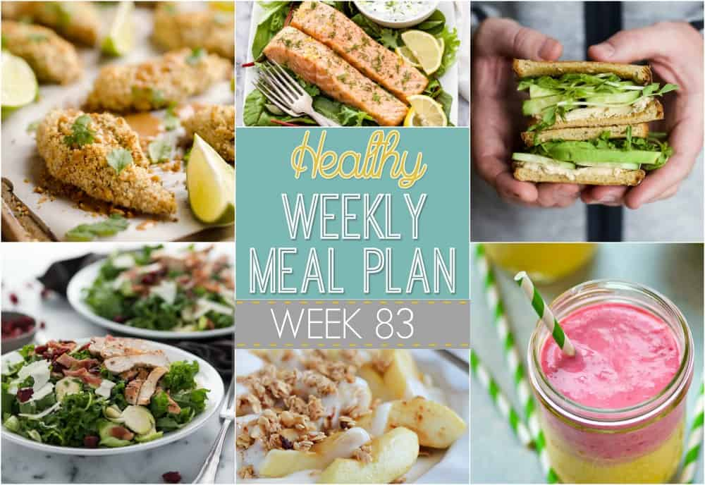 Make your life easier AND healthier with this family friendly Healthy Meal Plan! It has a weeks worth of healthy recipes that you & the kids will love! Recipes for breakfast, lunch, and dinner with a few snacks and desserts snuck in! | joyfulhealthyeats.com