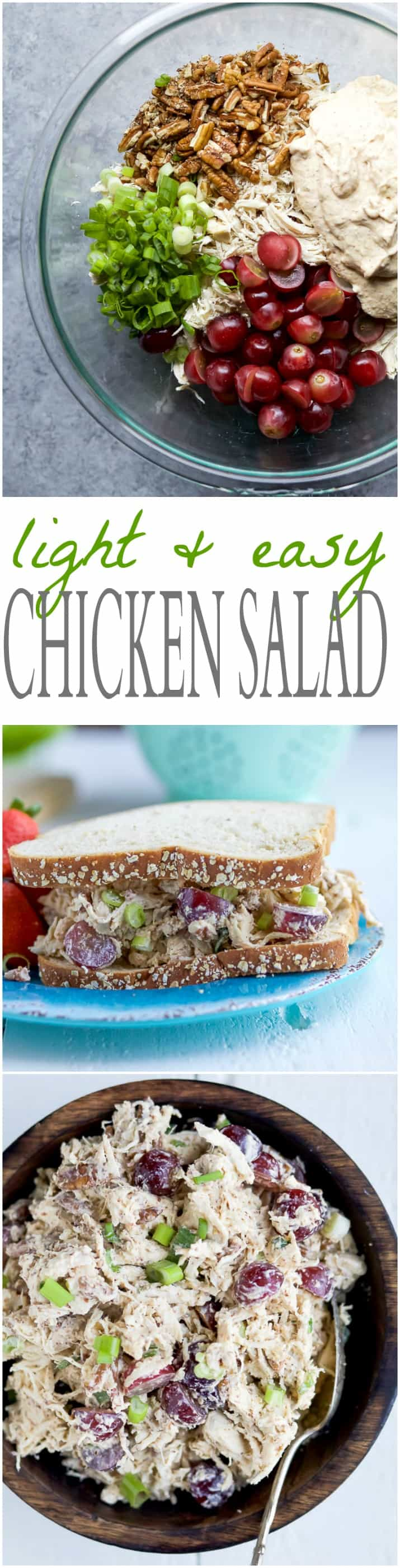 light easy chicken salad recipe easy healthy recipes using real ingredients. Black Bedroom Furniture Sets. Home Design Ideas