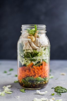 asian chicken mason jar salad recipe