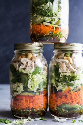 Image of Asian Chicken Mason Jar Salads