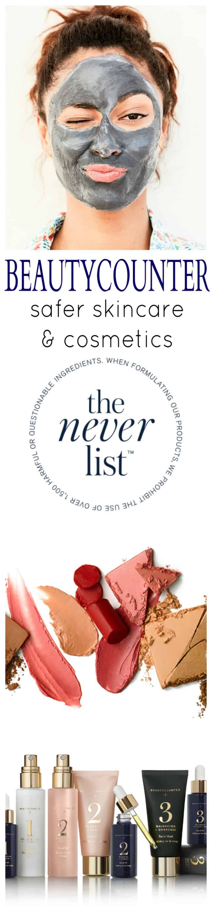 Beautycounter making the world healthier by providing safer effective skin care and cosmetics. Skin Care and Cosmetics you can trust that's used and supported by hundreds of celebrities. A list of 1,500 chemicals that will NEVER be used in any of the products! | joyfulhealthyeats.com