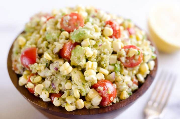 Cilantro Quinoa Corn Salad a light and refreshing salad perfect for an easy packed lunch or a side salad for a cookout.