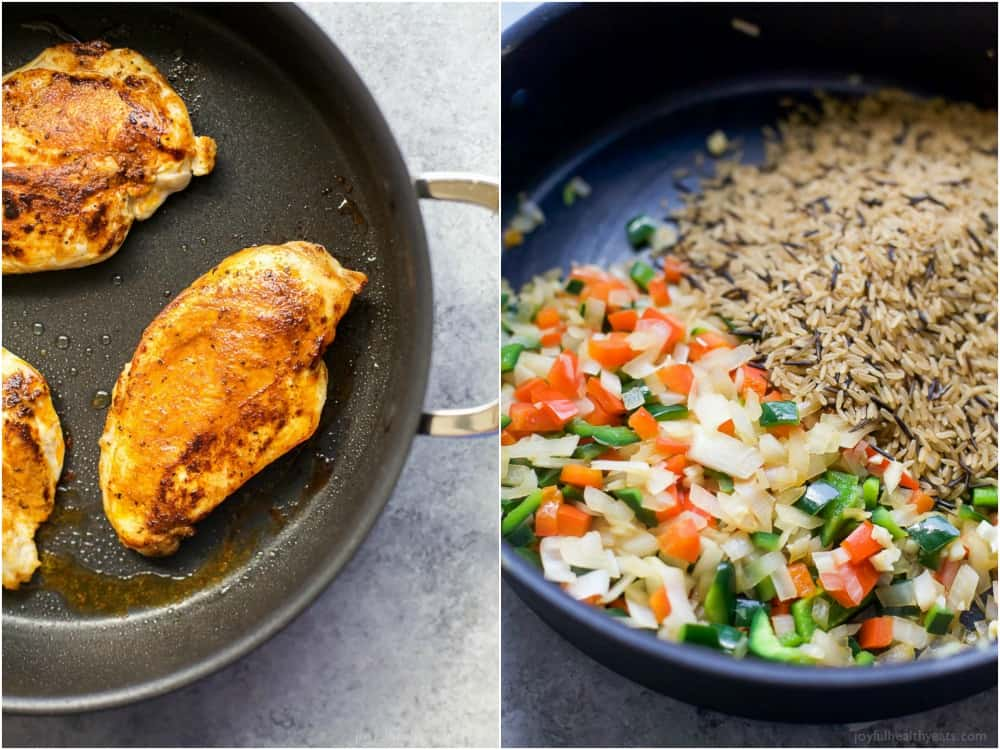 Image of Ingredients for One Pan Southwestern Chicken and Rice