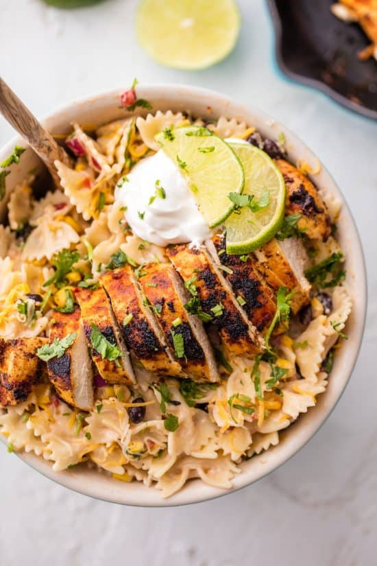 chicken enchilada pasta salad