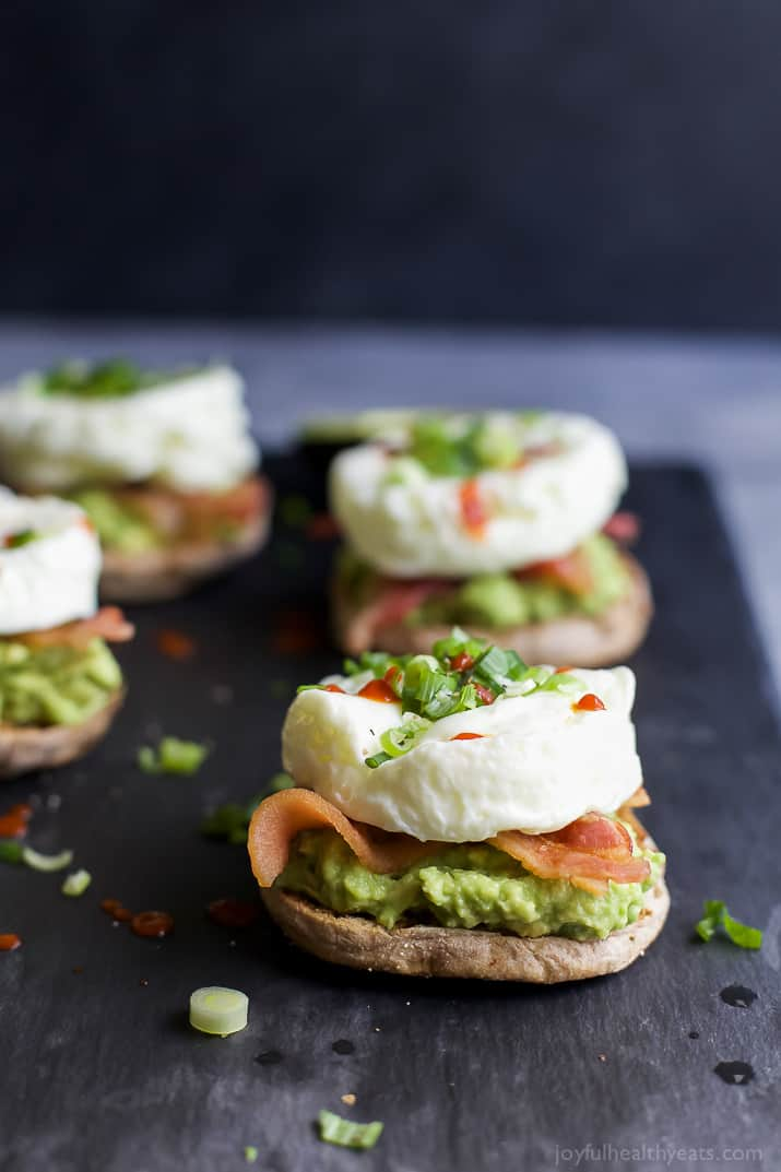 Bacon Avocado Egg White Breakfast Sandwich