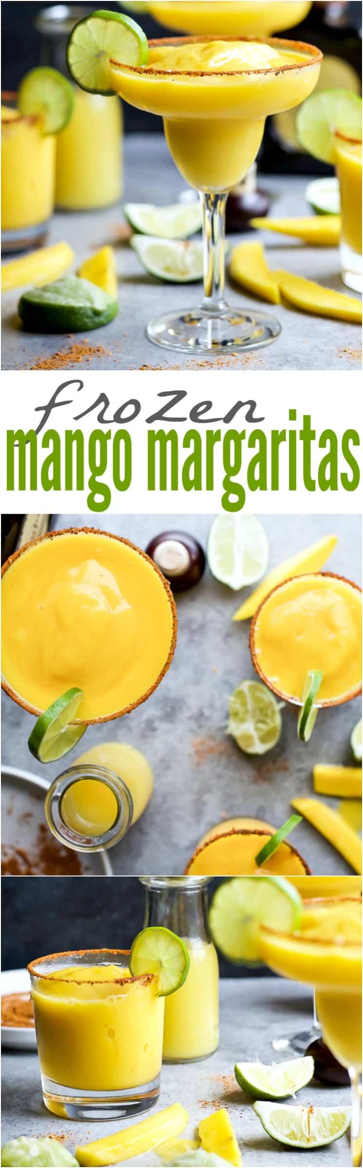 Recipe collage for Frozen Mango Margaritas