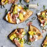 Grilled Prosciutto Peach Flatbread Pizza