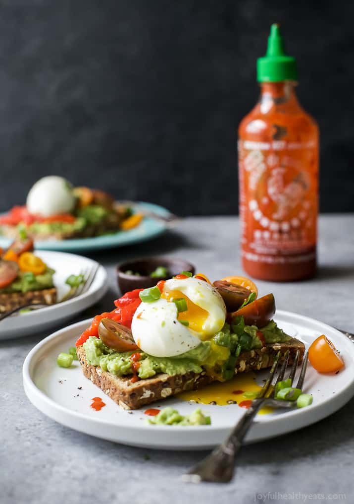 smashed avocado toast with soft boiled egg easy healthy recipes