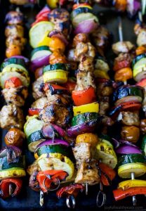 Balsamic Grilled Chicken Kabobs Recipe | Easy Summer Grilling