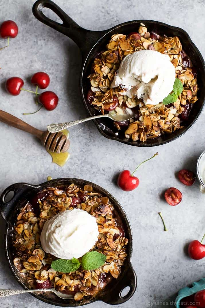 Fresh Cherry Crisp Recipe How To Make A Healthy Fruit Crisp