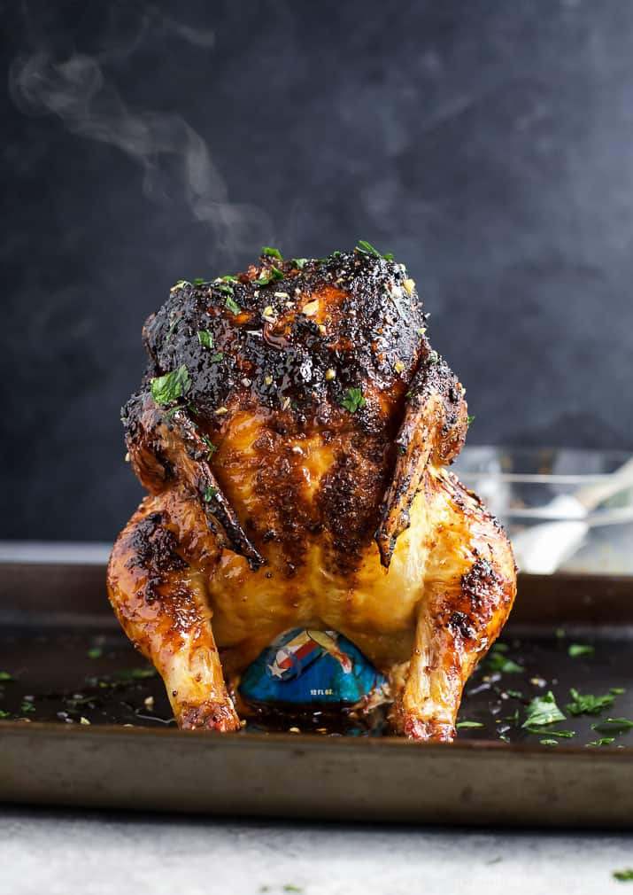 Glazed Honey Garlic Beer Can Chicken How To Make Beer Can Chicken