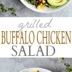 Grilled Buffalo Chicken Salad Recipe | Healthy Work Lunch Idea