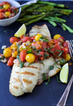 Image of Grilled Snapper with Charred Tomato Relish