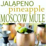 Moscow Mules with lime, jalapeno and pineapples photo collage
