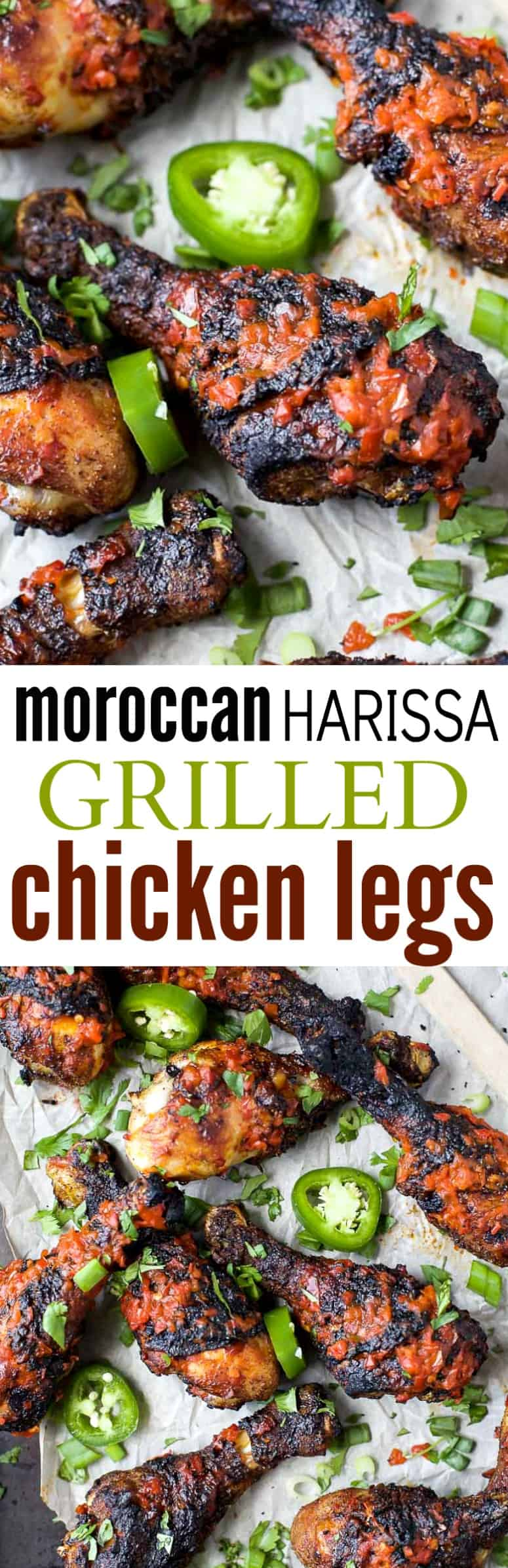 Moroccan Harissa Grilled Chicken Legs the perfect grilling recipe to wow the crowd this summer! | gluten free recipes