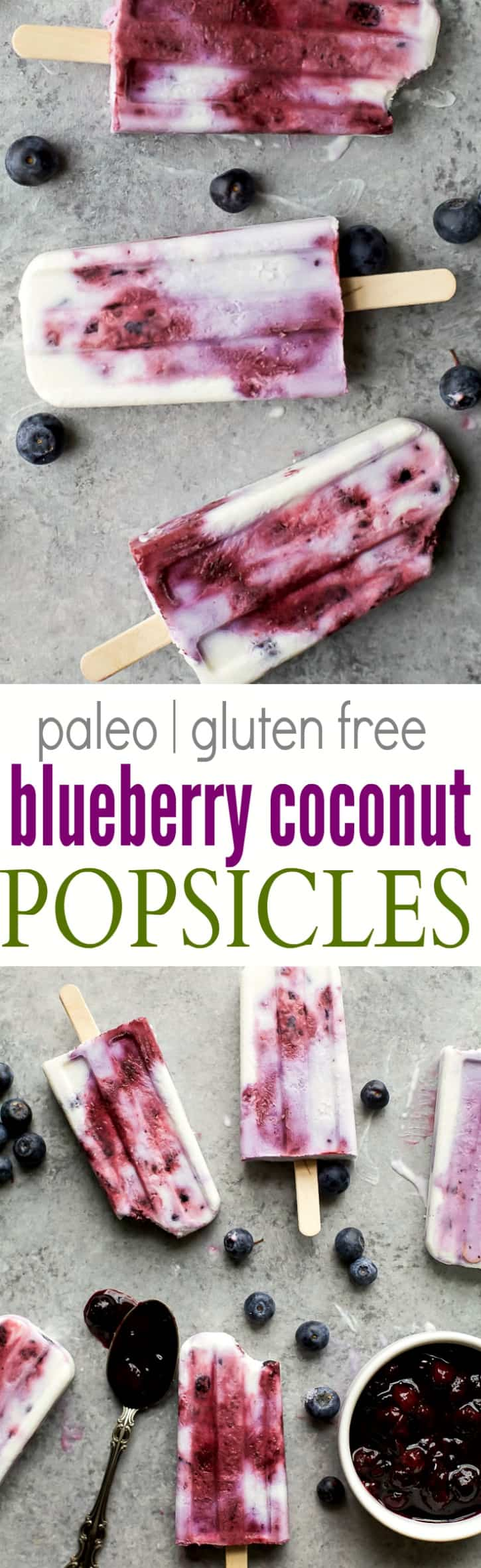 Your summer just got tastier with this creamy dreamy Paleo Blueberry Coconut Popsicles. Made from all fresh ingredients, no dairy, no refined sugar and 100% yum!