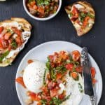 Roasted Red Pepper Bruschetta with Burrata