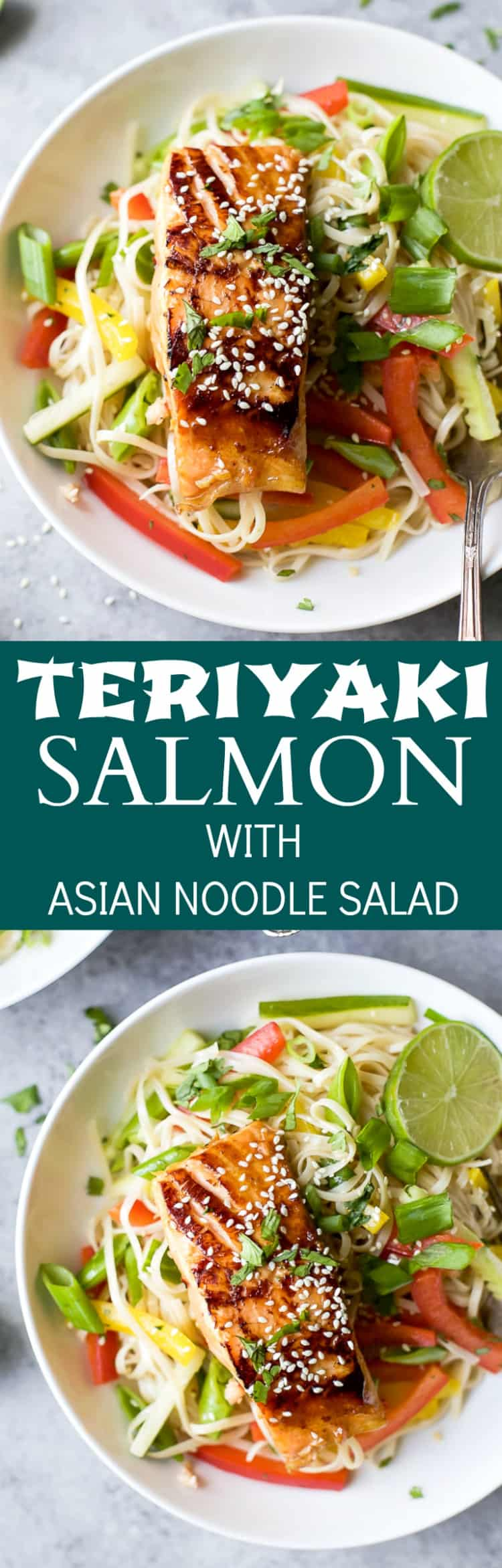 Teriyaki Salmon With Asian Noodle Salad Easy Healthy Recipes