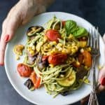 Basil Pesto Pasta with Grilled Vegetables-5