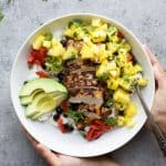 Jerk Chicken Bowls with Mango Pineapple Salsa