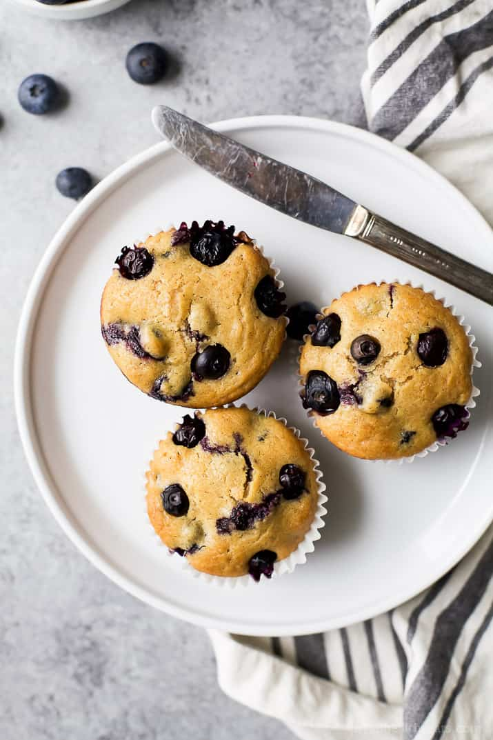 An easy homemade Blueberry Muffin Recipe the family will love. Moist Blueberry Muffins bursting with blueberry flavor! A perfect breakfast or after school snack option!