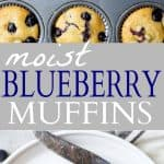 Moist Blueberry Muffins | Delicious & Healthy Blueberry Muffins Recipe