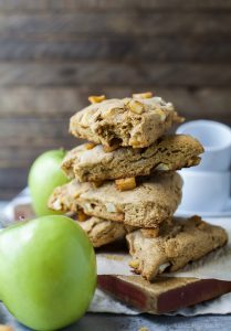Image of Apple Cinnamon Scones Stacked on a Plate