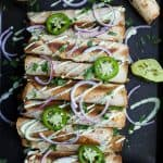 Butternut Squash Chicken Taquitos with Avocado Crema