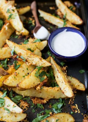 Image of Baked Garlic Parmesan Potato Wedges