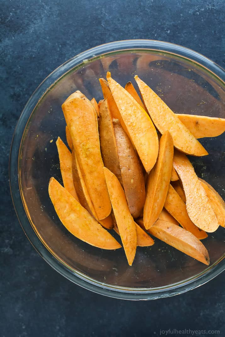 Sweet Potato Wedges in a bowl