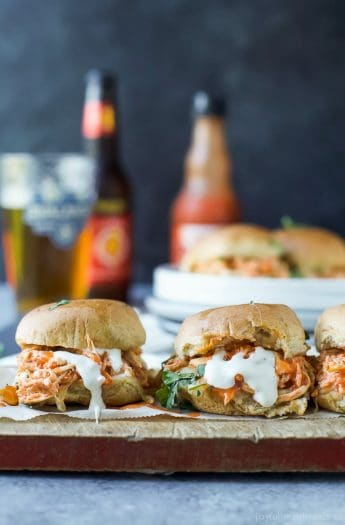 Baked Cheesy Buffalo Chicken Sliders Image