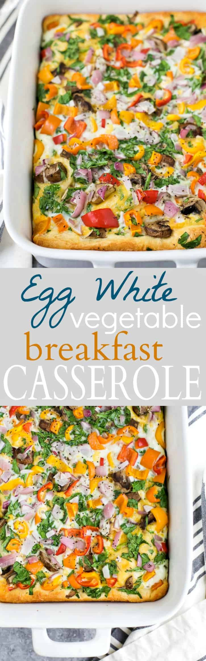 Egg White Vegetable Breakfast Casserole Easy Healthy Recipes
