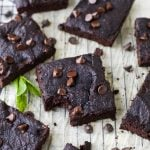 Fudgy Flourless Pumpkin Brownies