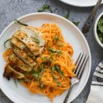 GF Pasta with Chicken and Roasted Red Pepper Sauce - web-3