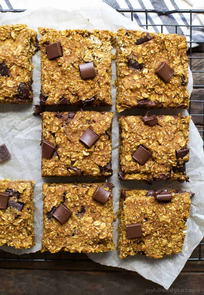 Pumpkin Oatmeal Bars Are Perfect For A Quick & Healthy Breakfast