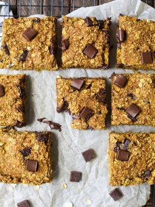 oatmeal chocolate chip pumpkin bars