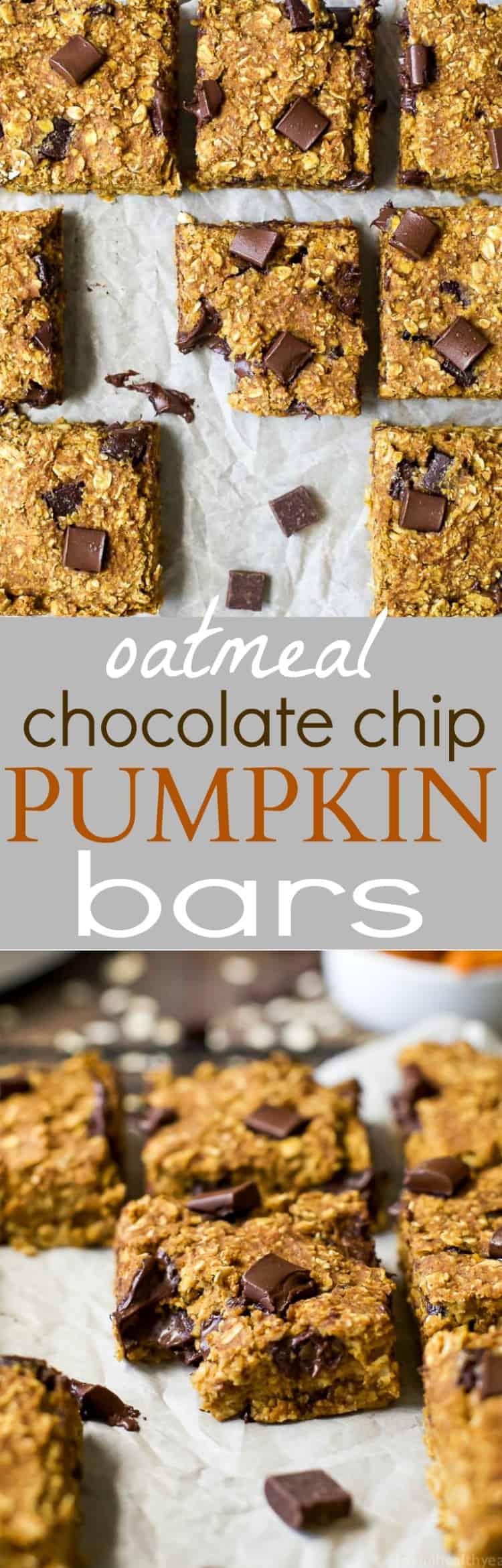 Oatmeal Chocolate Chip Pumpkin Bars Recipe