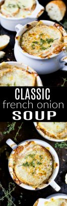 French Onion Soup photo collage