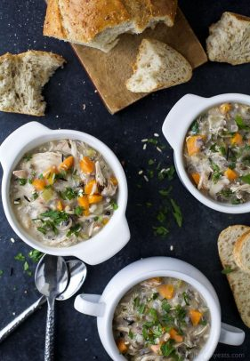 Easy Crockpot Chicken & Wild Rice Soup   Only 5 Min Prep!   Chicken Breast Crockpot Recipe